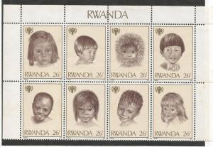 RWANDA 925 MNH SS CHILDREN