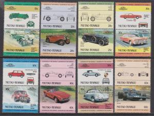 Tuvalu Niutao 1984-85 Cars 1-8 MNH