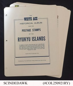 COLLECTION OF RYUKYU ISLANDS STAMPS FROM 1952-72 IN ALBUM PAGES - ALL MINT