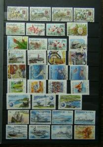 Barbados 1991 1995 Commemorative issues with high values odd minor fault Used
