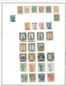 Libya 1912-1951 M & U Hinfed on 2 Minkus pages with Duplication