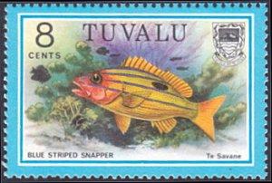 Tuvalu # 101 mnh ~ 8¢ Fish