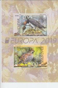 2019 Bulgaria Birds Europa SS (Scott NA) MNH