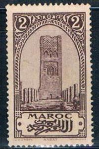 French Morocco 91 MLH Tower of Hassan 1923 (F0113)+