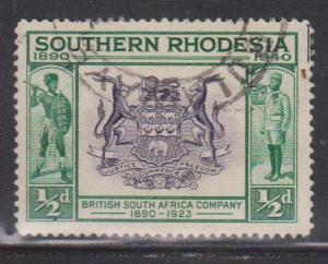 SOUTHERN RHODESIA Scott # 56 Used - British South Africa Company