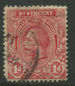 St Vincent - Scott 105 - KGV Definitive -1913 - Used - Single 1d Stamp