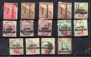 Bechuanaland QV used unchecked collection WS16277