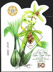 Indonesia. 2017. bl335. Orchids, flowers. MNH.