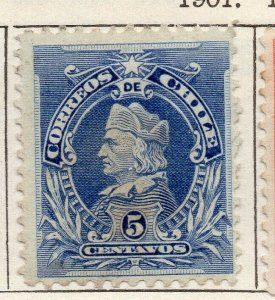 Chile 1901 Early Issue Fine Mint Hinged 5c. NW-11415