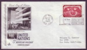 United Nations FDC Sc. #  106     L3