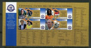 TUVALU 2004 100 YEARS OF FOOTBALL SHEET MINT NH