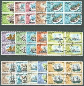 CHRISTMAS IS 1972 Ships Definitive set fine used blocks of 4...............65002