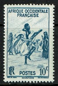 French West Africa Scott 36 MNH (1947) Mauritania - Rifle Dance