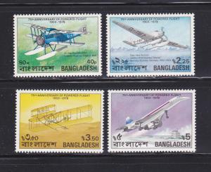 Bangladesh 149-152 Set MNH Planes