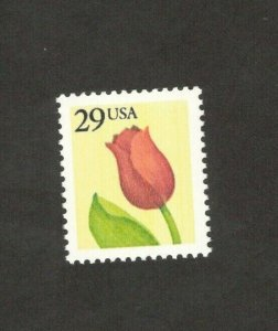 2524a Tulip Flower Single Stamp Mint/nh FREE SHIPPING