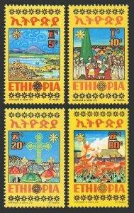 Ethiopia 716-719,MNH.Michel 802-805. Meskel Festival 1974.True Cross.