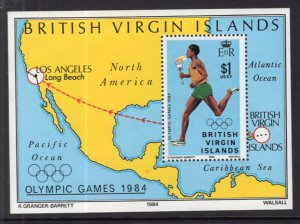 British Virgin Islands 477 Summer Olympics Souvenir Sheet MNH VF