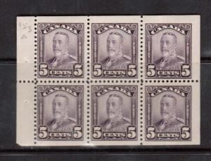 Canada #153a VF Mint Booklet Pane