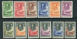 BECHUANALAND-1932  A mounted mint set to 10/- Sg 99-110