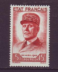 J24685 JLstamps various 1943 france  part of set mh #b157 marshal petain