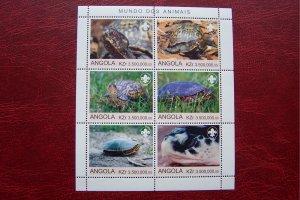 Angola 2000 MNH Turtles Reptils