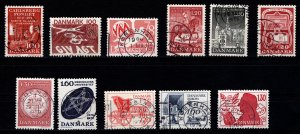 Denmark 1976-79 Commemoratives, Complete Sets [Used]