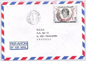 CA203 1980 Mauritania 77um PRINCESS DIANA Issue Airmail Cover MISSIONARY VEHICLE
