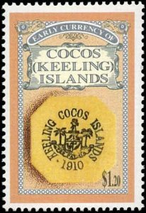 Cocos Islands #274-277, Complete Set(4), 1993, Coins, Never Hinged