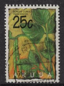 Aruba   #122  used  1995  vegetables 25c