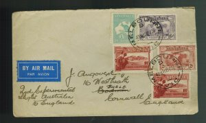 1931 Melbourne Australia to England First Flight Cover FFC  Imperial Airways