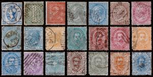 Italy Scott 23 // 70 (1863-95) Used H F-VF, CV $124.65 B