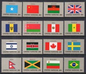 UN New York 399-414 Flags MNH VF