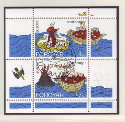 Faroe Islands Sc 265a 1994 Europa St Brendan stamp sheet U
