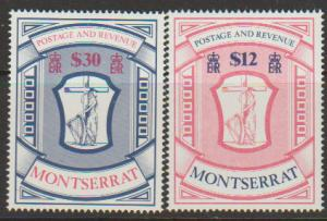 Montserrat SG 575 - 576 set of 2  Revenues - Mint Light H...