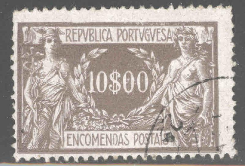 Portugal Scott Q17 Used Parcel Post Stamp top value in set CV$9.25