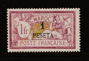 French PO's in Morocco a MNG 10 on 1Fr from 1902