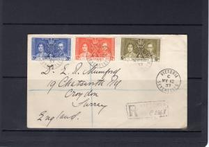 Seychelles 1937 Postal History Cover send from Victoria to Surrey,England
