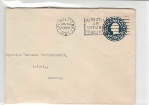 united states 1925 used stamped envelope cover ref 19158