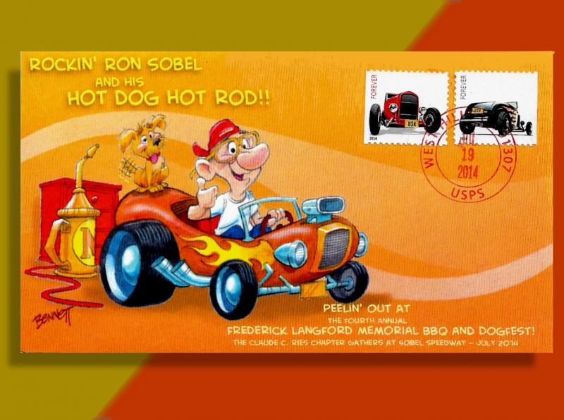 Ries Chapter BBQ Cover Features the Hot Dog Hot Rod! First Time on HipStamp!