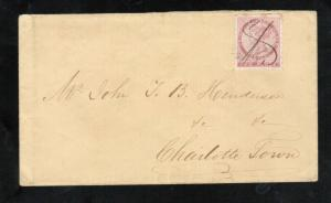 Prince Edward Island #1 Very Fine Used On Cover To Charlottetown *With Cert.*