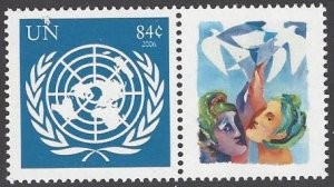 United Nations 931 Peaceful Visions 2007 Personalized Single Stamp