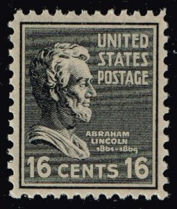 US STAMP #821 – 1938 6c Lincoln, black MNH/OG  XFS SUPERB