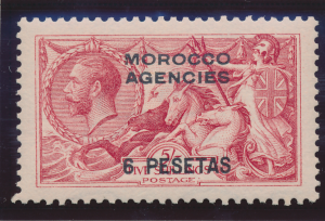 Great Britain, Offices In Morocco Stamp Scott #56, Mint Hinged, Good Centerin...