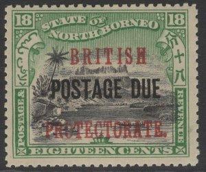 NORTH BORNEO SGD48 1910 18c BLACK & GREEN MNH