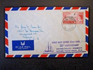 Bermuda 1956 US - Bermuda 8d Ocean Race FDC - Z5075