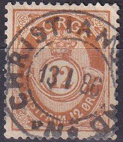Norway #42 F-VF Used CV $27.00 (Z9598)