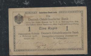 GERMAN EAST AFRICA (3009B) DOA BANK 1 RUPEE PATER MONEY