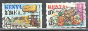 KENYA SCOTT# 307+309 **USED** 1984  3.50sh + 10sh  SEE SCAN