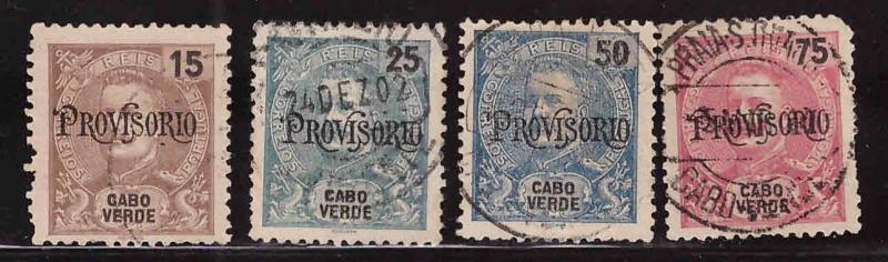 Cabo Verde Cape Verde Scott 80-82 Used surcharged stamp set