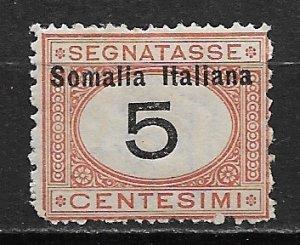 1826 Somalia J31 Postage Due 5c MH